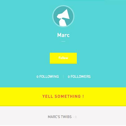 Twiby, profil d'un utilisateur de la plateforme